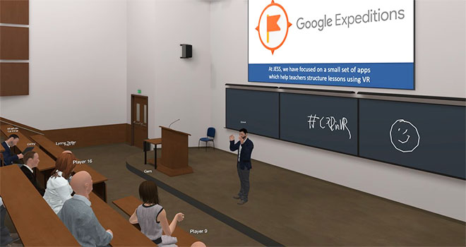 google expeditions example of virtual classroom for coronavirus world congress